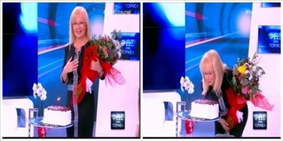 Γενέθλια στο πλατό έκανε η Νικολούλη - Γιατί ζήτησε να απομακρύνουν την τούρτα!