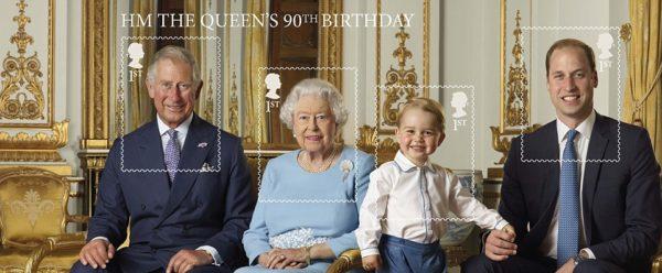 Η βασιλική οικογένεια έγινε γραμματόσημο