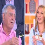 Ο μπαμπάς της Τατιάνας Στεφανίδου στο κοινό της εκπομπής Tatiana Live