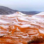 Χιόνισε στη Σαχάρα