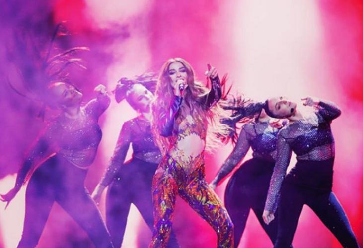 «Φωτιά» έβαλε η Ελένη Φουρέιρα στον α ημιτελικό της Eurovision