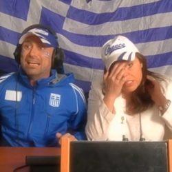 Δείτε τι έκαναν στον ημιτελικό της Eurovision οι πρώην σχολιαστές Γιώργος Καπουτζίδης και Μαρία Κοζάκου