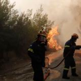 Υπό μερικό έλεγχο η φωτιά σε πευκοδάσος στη Λευκίμη του δήμου Σουφλίου