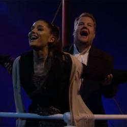 Η Ariana Grande και ο James Corden έκαναν αφιέρωμα στον «Τιτανικό» με 13 απρόσμενα τραγούδια