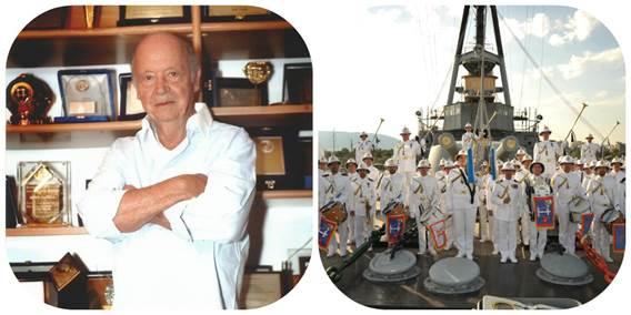 Η ΕΣΤΙΑ Νέας Σμύρνης βραβεύει τον Μίμη Πλέσσα υπό τους ήχους της Μπάντας του Πολεμικού Ναυτικού!