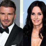 H Courteney Cox ποζάρει με τον David Beckham στην μπανιέρα