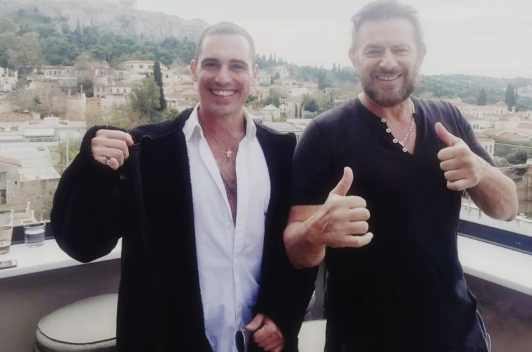 """Ο Costas Mandylor μαζί με τον Άνθιμο Ανανιάδη στην ταινία δράσης """"The Greek job"""""""