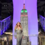 Η Mariah Carey φωταγώγησε το Empire State Building στη Νέα Υόρκη
