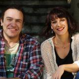 Ο Κώστας Λειβαδάς παρέα με την Ανδριάνα Μπάμπαλη στη μουσική σκηνή Σφίγγα