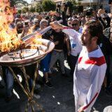 """Διακόπηκε η Ολυμπιακή Λαμπαδηδρομία της Ολυμπιακής Φλόγας και ο Gerard Butler φώναξε """"This is Sparta"""""""