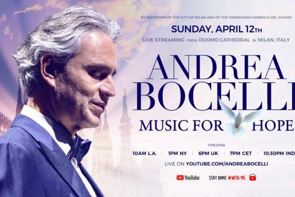 Andrea Bocelli LIVE από τον καθεδρικό ναό Duomo του Μιλάνου