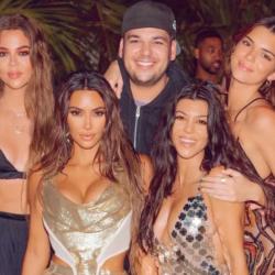 Η σπάνια δημόσια εμφάνιση του Rob Kardashian με τις αδερφές του