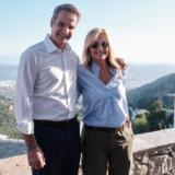 Ο Κυριάκος Μητσοτάκης και η Μαρέβα φωτογραφίζονται με τον Tom Hanks και την Rita Wilson!