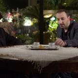 O Λάμπρος Φισφής και ο Γιώργος Χατζηπαύλου στο «Δε γκρανμάδερ» με τον Ιεροκλή Μιχαηλίδη