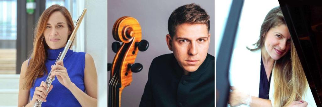 Διεθνείς Μουσικές Ημέρες Καλαμάτας 2021   Ναταλία Γεράκη, Αλέξης Καραϊσκάκης-Νάστος και Λευκή Καρποδίνη ως λ-ensemble in trio