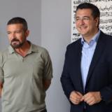 Η συνάντηση του Antonio Banderas με τον Απόστολο Τζιτζικώστα στη Θεσσαλονίκη
