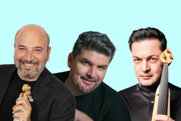 Οι Νίκος Ζωιδάκης, Γιάννης Καψάλης και Ματθαίος Τσαχουρίδης ζωντανά στο Θέατρο Βράχων