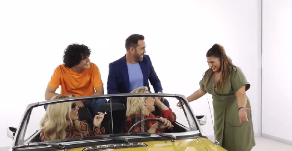 Η Δανάη Μπάρκα έκανε… «ντου» στα γυρίσματα του trailer της νέας εκπομπής Καραβάτου-Ηλιάκη