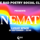 Drive-in / Lunar Space -- Bad Poetry Social Club - 24 Σεπτεμβρίου / Lunar Sessions